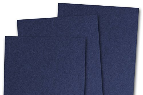 Blank 80# A7 Basic 5x7 Card Stock (50 Pack, Navy) ()