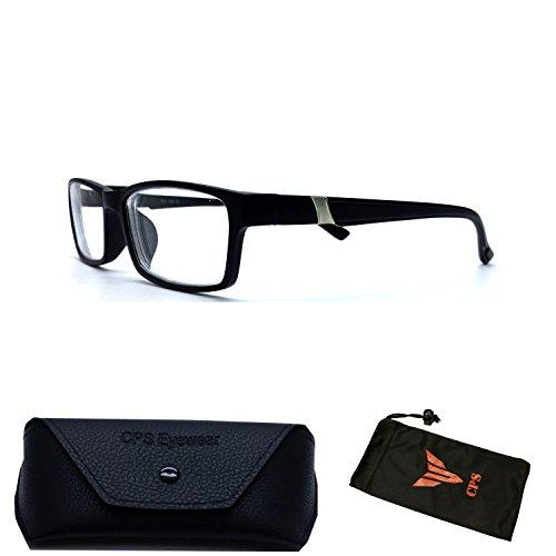 (#6801 Blk) 1 Pair Men & Women Unisex Myopia Eyeglasses Short Sighted / Nearsighted Glasses + FREE Hard Case Storage (Strength: - Mens Popular Eyeglasses