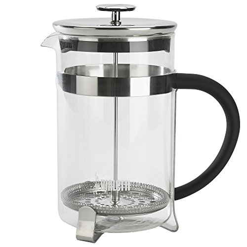 Bialetti, 06767, Stainless Steel Coffee Press , 12 cups , 51 oz , tea, coffee, coldbrew, silver