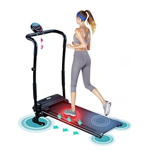 Homgrace Folding Electric Treadmill Running Machine. Mini Silent Home Fitness Training Machine With LED Display