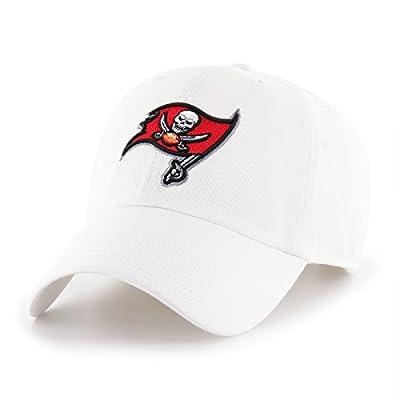 OTS NFL Tampa Bay Buccaneers Men's Challenger Adjustable Hat, White, One Size