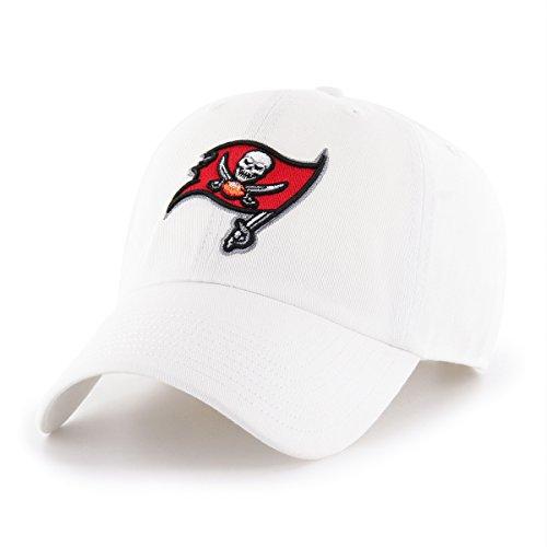 NFL Tampa Bay Buccaneers Men's OTS Challenger Adjustable Hat, White, One Size