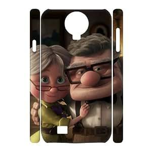 T-TGL(RQ) Samsung Galaxy S4 I9500 3D High-Quality Phone Case pixar carl ellie with Hard Shell Protection