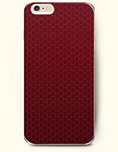 Apple iPhone 6 Case ( 4.7 inches) with Design of Wine Red Hexagon Pattern - Honeycomb Pattern -OOFIT Authentic iPhone Skin