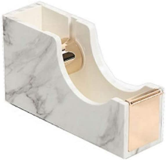 RJZF Marble Edition Tape Dispenser Cutter Adhesive Tape Holder, Washi Tape Storage Hands Free Tape Dispenser Office Accessories Gold