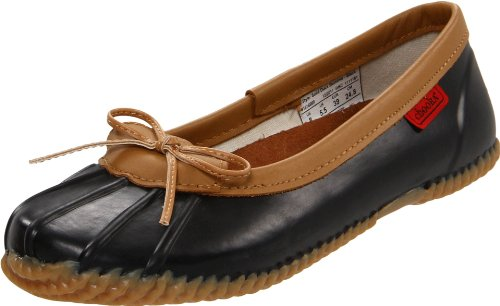 Chooka Women's Duck Skimmer Flat black, 8 M - Rain Skimmers