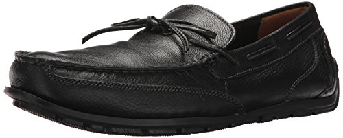 CLARKS Men's Benero Edge Driving Style Loafer, Black Leather, 9 M US Clarks Moccasin