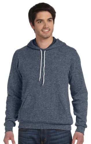 Bella Pullover Hooded (Bella + Canvas Unisex Fleece Pullover Hoodie Sweatshirt-L (Deep Heather))