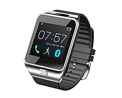 "Aberobay New V8 1.54"" Wirst Multi-function Smart Watch Bluetooth 4.0 Cell Phone Mate Partner Sync Pedometer Step Walking Counter Activity Tracker Sleep Monitoring Music Player Anti-Lost Dialing Remote Camera Notification Burglar Alarm Ring Vibration for A"