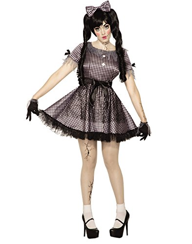 Broken Doll Adult Dress Costumes (Forum Women's Broken Doll Costume Dress, Black/White, STD)