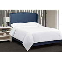 Jennifer Taylor Home, Upholstered Bed, Queen, Insignia Blue, Hand-Applied Nailheads