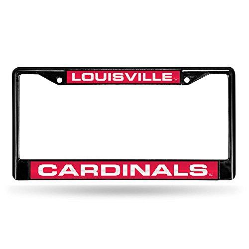 Louisville Cardinals Laser Black License Plate Frame