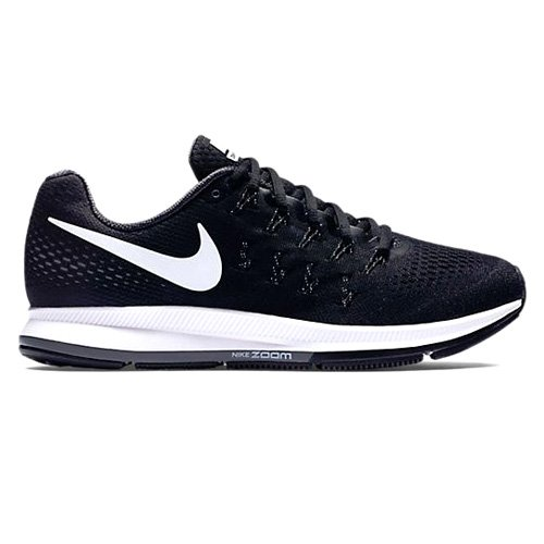 Nike Women's Wmns Air Zoom Pegasus 33, BLACK/WHITE-ANTHRACITE-COOL GREY, 8