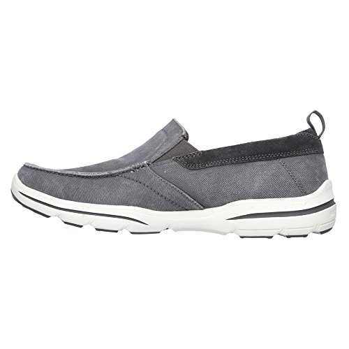 Skechers Usa Heren Harper Delen Instapper Loafer Grijs Gewassen Canvas