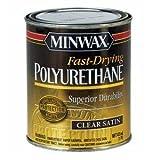 Minwax 43010 Fast-Drying Polyurethane Clear Finish Satin, 1-Pint