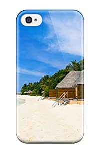 Tpu Beulatson Shockproof Scratcheproof K Wallpapers Beach Hard Case Cover For Iphone 4/4s
