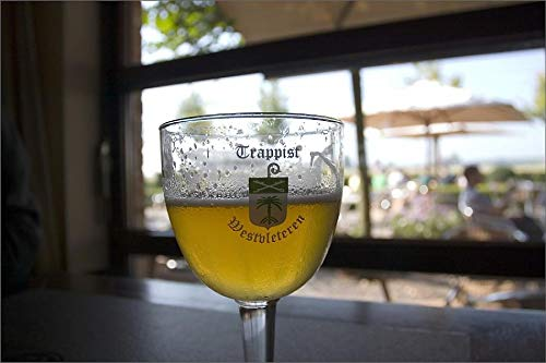 robertharding 12x8 Print of Westvleteren Trappist Beer at The Abbey in Saint Sixtus, Enjoying Local Beer (1132168) (Westvleteren Best Beer In The World)