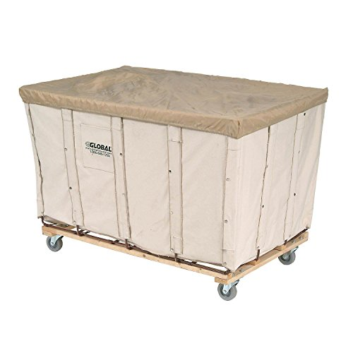 Canvas Basket Bulk Truck, 16 Bushel by Global Industrial