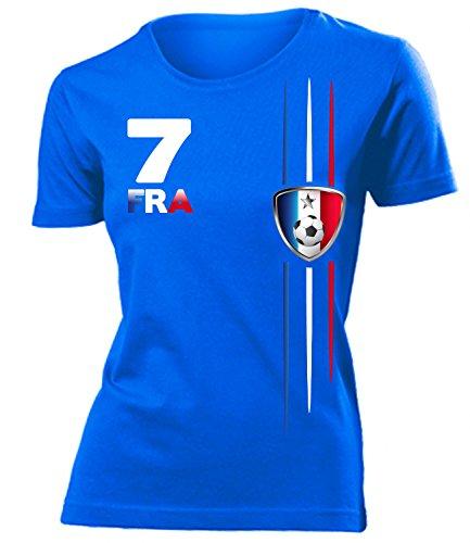 coppa del Mondo - Campionati Europei FRANKREICH mujer camiseta Tamaño S to XXL varios colores Azul