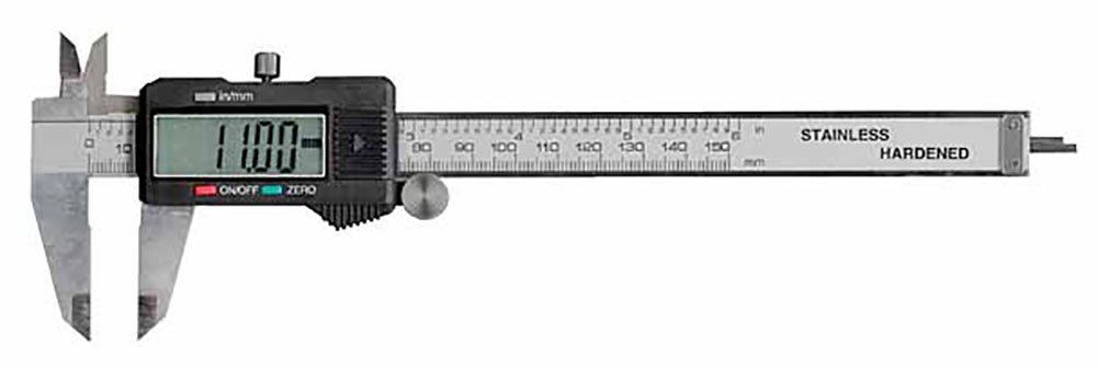 Electronix Express 0604CAL6++ LCD Digital Caliper with Extra Battery and Case, 6''