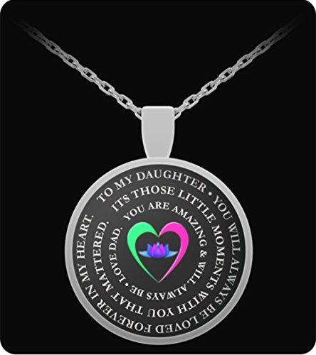 Daughter Father Necklace - Inspirational Love - Round Pendant