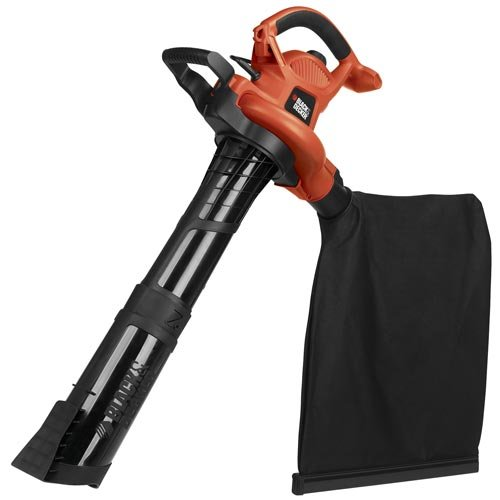 BLACK+DECKER 3-in-1 Electric Leaf Blower, Leaf Vacuum, Mulcher, 12-Amp (BV6600) ()