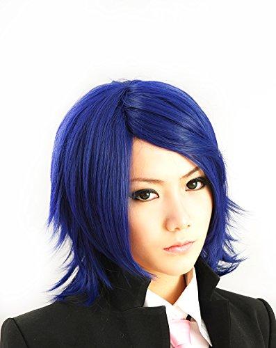 HOOLAZA Dark Brown Short Straight Curly Hair Tail Cosplay Wig Oshitari Yuushi Kagamine Rin Len 35Cm Anti Alice Short Hair Cosplay Wig ()