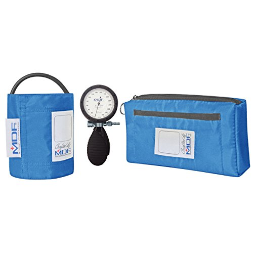 Palm Aneroid (MDF® Bravata Palm Aneroid Sphygmomanometer - Blood Pressure Monitor with Adult Sized Cuff Included - Bright Blue (MDF848XPD-14))