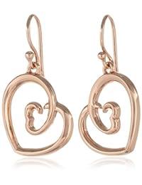 Sterling Silver Double Heart Drop Earrings