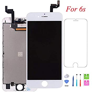 GOLDWANGWANG Screen Replacement For iPhone 6s, Digitizer Display with LCD Touch Screen Glass Frame Assembly with Screen Protector for iPhone 6s 4.7 inch- ...