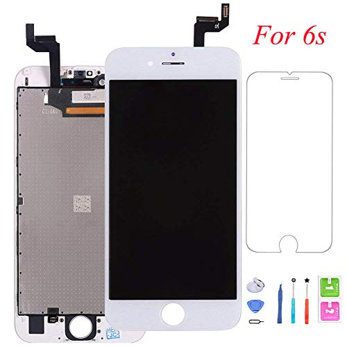 QTlier Screen Replacement for iPhone 6s, Digitizer Display with LCD Touch Screen Glass Frame Assembly with Screen Protector for iPhone 6s 4.7 inch- White by QTlier (Image #7)