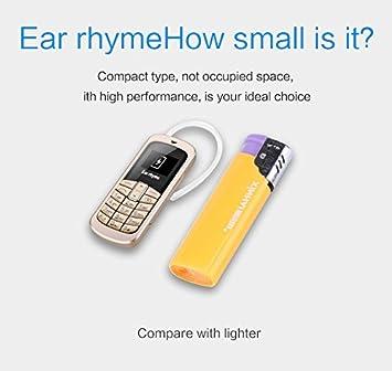 M9 3 en 1 teléfono móvil auriculares de bolsillo teléfono inalámbrico mini bluetooth Dial auriculares auriculares GSM teléfono móvil 21 g 99,99% plástico: Amazon.es: Electrónica