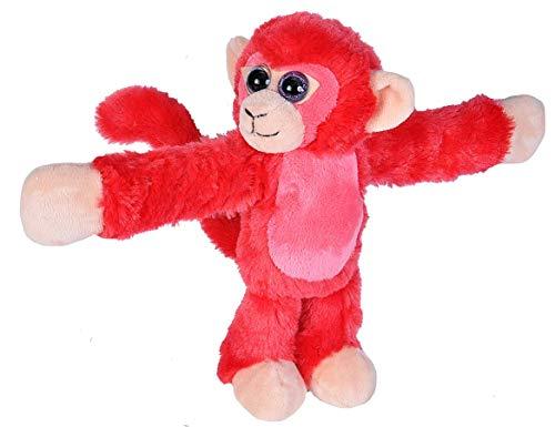 (Wild Republic Huggers Red Monkey Plush, Slap Bracelet, Stuffed Animal, Kids Toys, 8 inches)