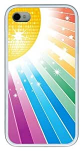 Abstract Colors TPU White Case for iphone 4S/4