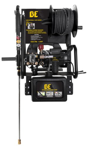 BE Pressure P1515EPNW Electric Pressure Washer, 1500PSI, 1.6 GPM, 1.5 HP, 2 in 1