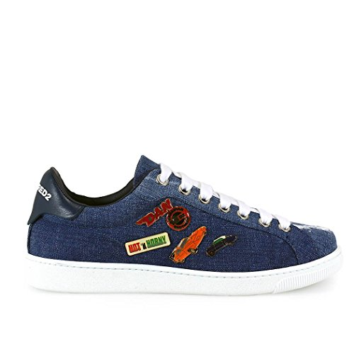 SNEAKER SANTA MONICA DENIM CON SPILLE DSQUARED2