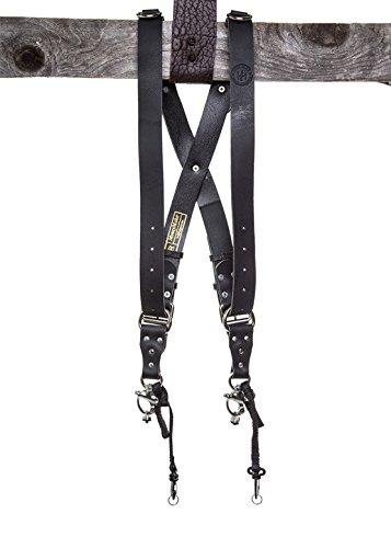 HoldFast Gear Money Maker Two-Camera Harness (Water Buffalo, Black, Medium Size) by HoldFast