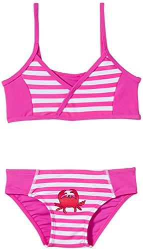 Playshoes Baby - Mädchen Schwimmbekleidung, gestreift 460104 Bikini Krebs von Playshoes mit UV-Schutz nach Standard 801 und Oeko-Tex Standard 100, Gr. 98/104, Mehrfarbig (900 original)