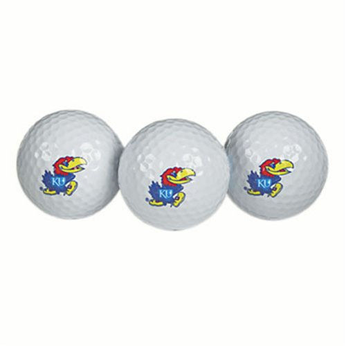 Kansas Jayhawks Golf Ball Pack of 3 by Team Effort