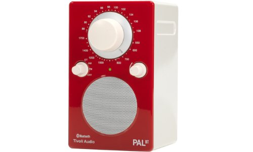 Tivoli Audio PALBTGR PAL BT Bluetooth Portable AM/FM Radio (High Gloss Red/White)