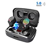Wireless Earbuds【105H Play Time 】Bluetooth 5.0 Headphones with 3000 mAh Charging Case [As