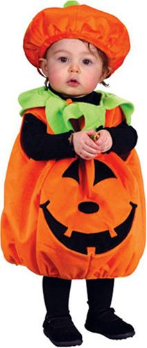 Infant Plush Pumpkin Costume with Hat