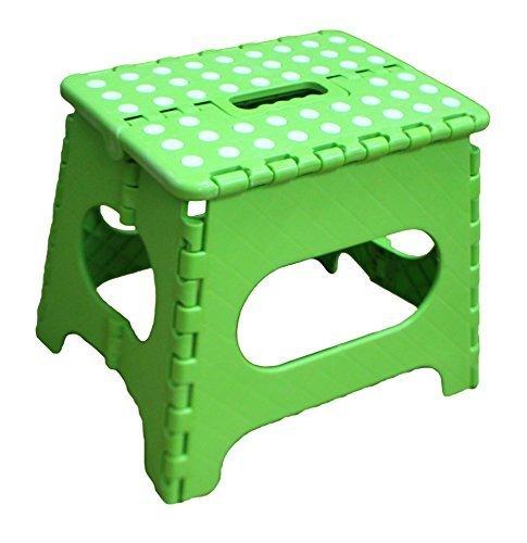 Jeronic 11Inch Plastic Folding Step Stool, Green by Jeronic