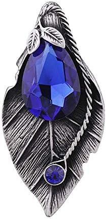 ZWH-ZWH ヴィンテージの宝石用原石の葉のブローチファッション気質ブローチピンアクセサリー ブローチ