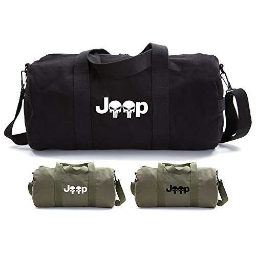 Jeep Wrangler Punisher Canvas Duffel Bag
