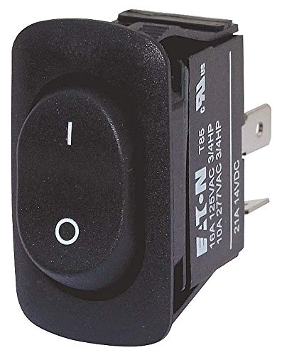 Eaton Rocker Switch, Contact Form: DPST, Number of Connections: 4, Terminals: 0.250'' Quick Connect Tab - XRXMXXXNV1CU, 5 packs by Eaton