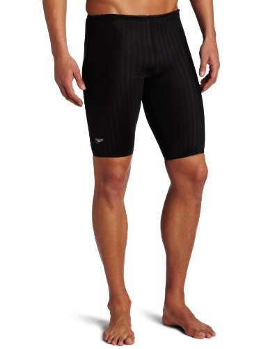 Speedo Men's Aquablade Jammer Swimsuit, Black, 30