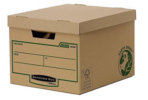 Bankers Box Earth Series Standard Archivbox (aus 100% recyceltem Karton, 4er-Packung) braun