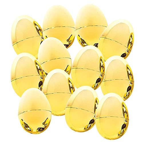 Kicko Metallic Golden Easter Eggs - Pack of 12 2.375