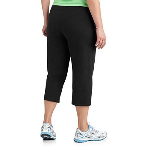 Womens Plus Size Dri-more Stretch Core Capri Pants Activewear Casual Wear by Danskin Now (Black, 3X)